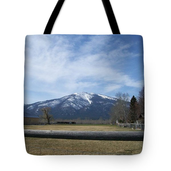 Tote Bag featuring the photograph Beyond The Field by Jewel Hengen