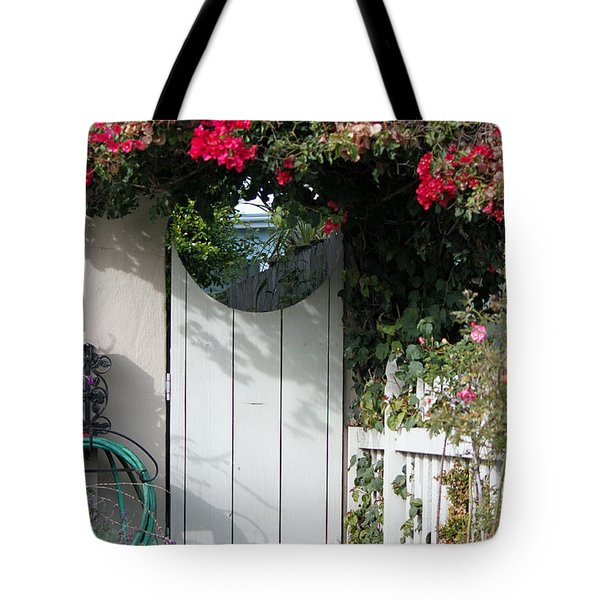Beyond The Garden Gate Tote Bag by Suzanne Gaff
