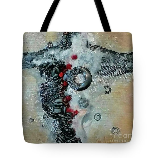 Tote Bag featuring the drawing Beyond The Obvious by Phyllis Howard