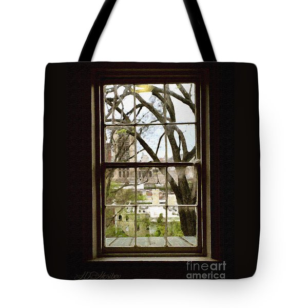 Beyond The Window Sill Tote Bag by Linda Mesibov