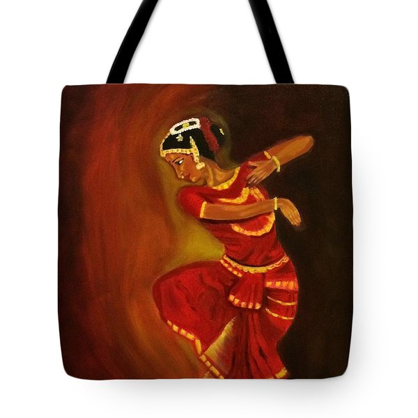 Bharatnatyam Dancer Tote Bag by Brindha Naveen