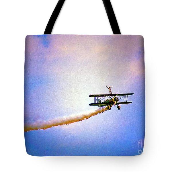 Bi-plane And Wing Walker Tote Bag