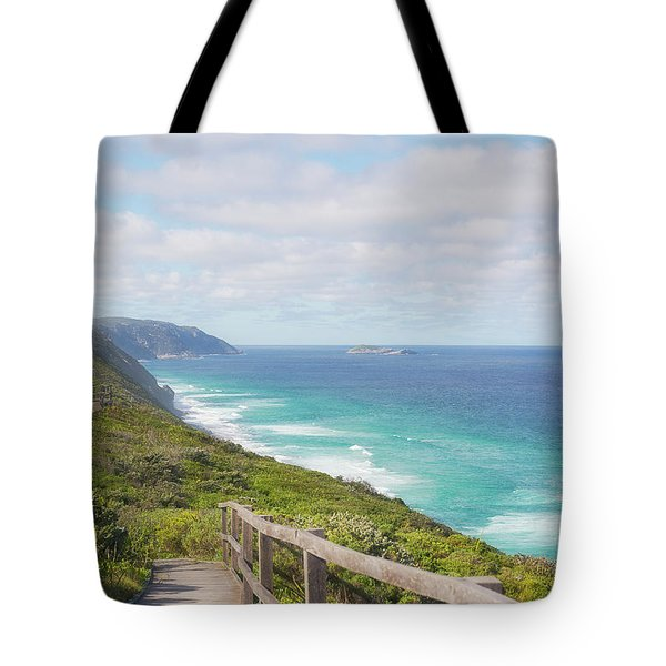 Tote Bag featuring the photograph Bibbulmun Track Albany Wind Farm by Ivy Ho