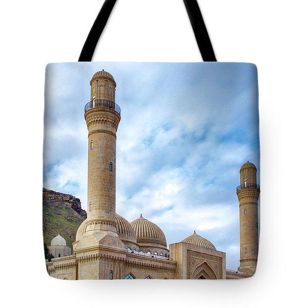 Tote Bag featuring the photograph Bibi-heybat Mosque by Fabrizio Troiani