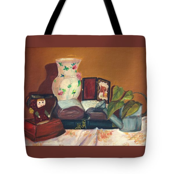 Tote Bag featuring the painting Bible Stories by Jane Autry