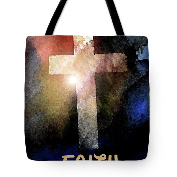 Tote Bag featuring the painting Biblical-faith by Terry Banderas