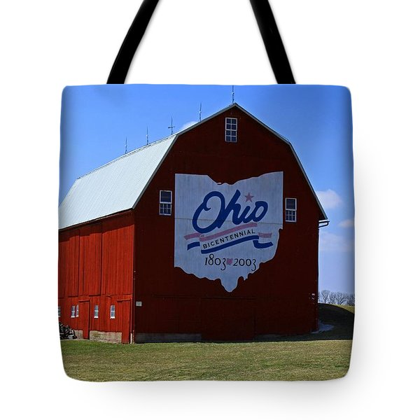 Bicentennial Barn  Tote Bag by Michiale Schneider
