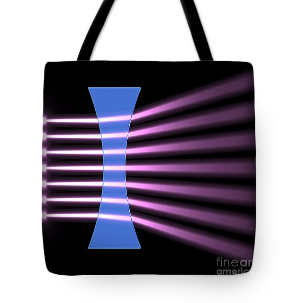 Tote Bag featuring the digital art Biconcave Lens 2 by Russell Kightley