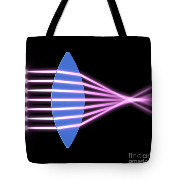 Tote Bag featuring the digital art Biconvex Lens 2 by Russell Kightley