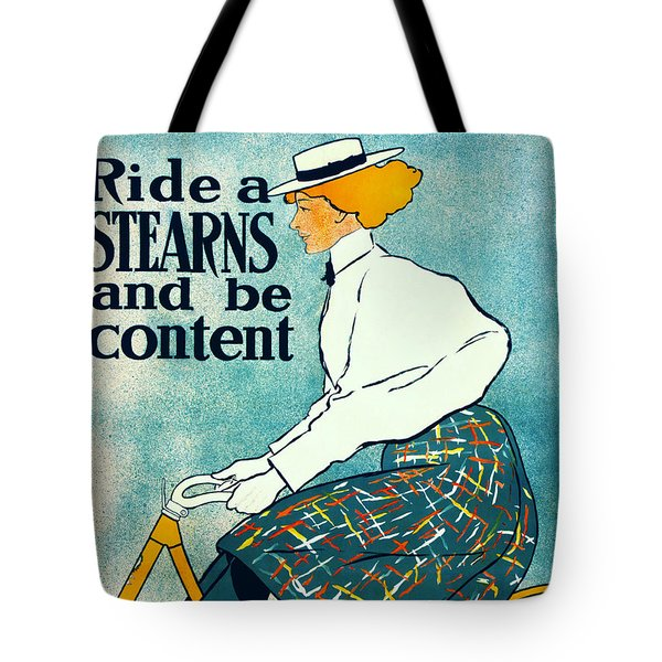 Bicycle Advertisement 1896 Tote Bag by Padre Art