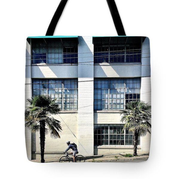 Bicycle And Palms Tote Bag