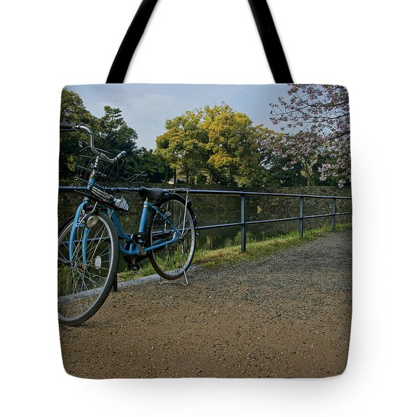 Bicycle And Tokyo Imperial Palace Tote Bag