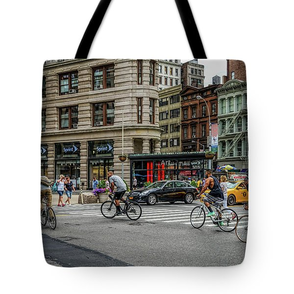 Bicycle Ballet  Tote Bag by Jeffrey Friedkin