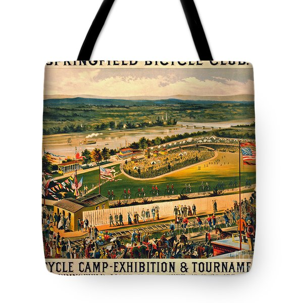 Tote Bag featuring the photograph Bicycle Camp 1883 by Padre Art