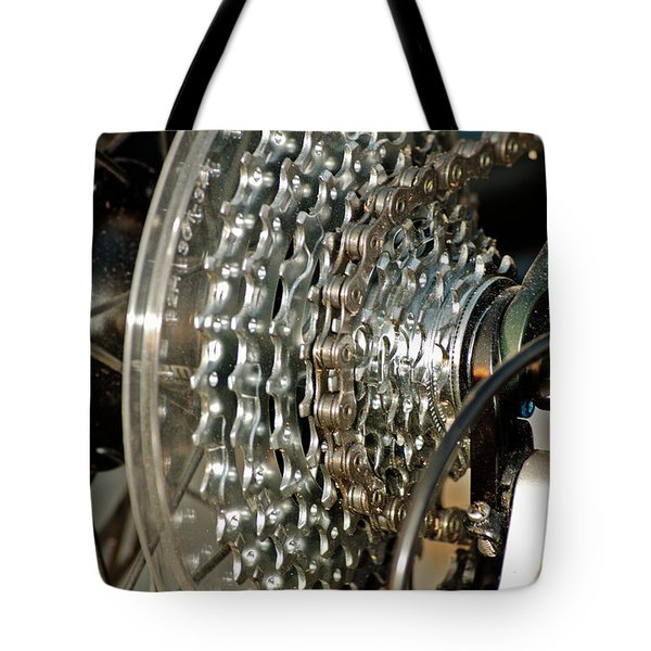 Bicycle Cog Wheel And Gears Tote Bag