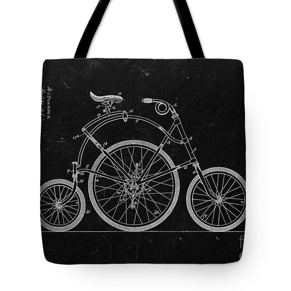 Bicycle From 1899 - Black Tote Bag