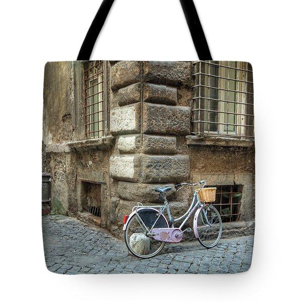 Bicycle In Rome Tote Bag