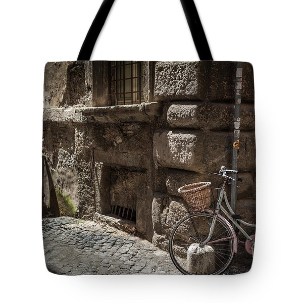 Bicycle In Rome, Italy Tote Bag