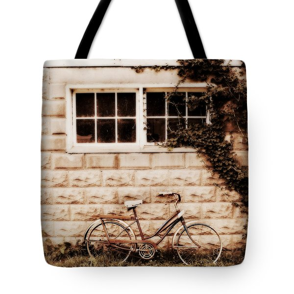 Bicycle Tote Bag by Julie Hamilton