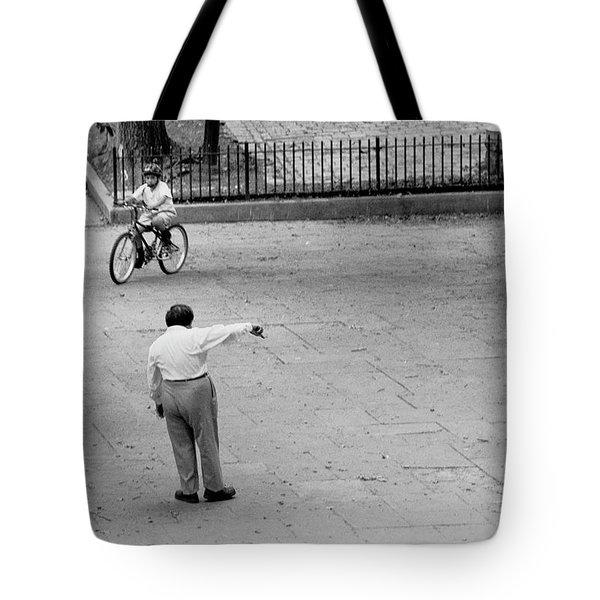 Bicycle Lesson Schurz Park Tote Bag