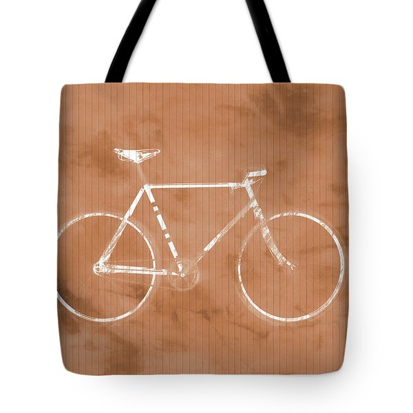Bicycle On Tile Tote Bag by Dan Sproul