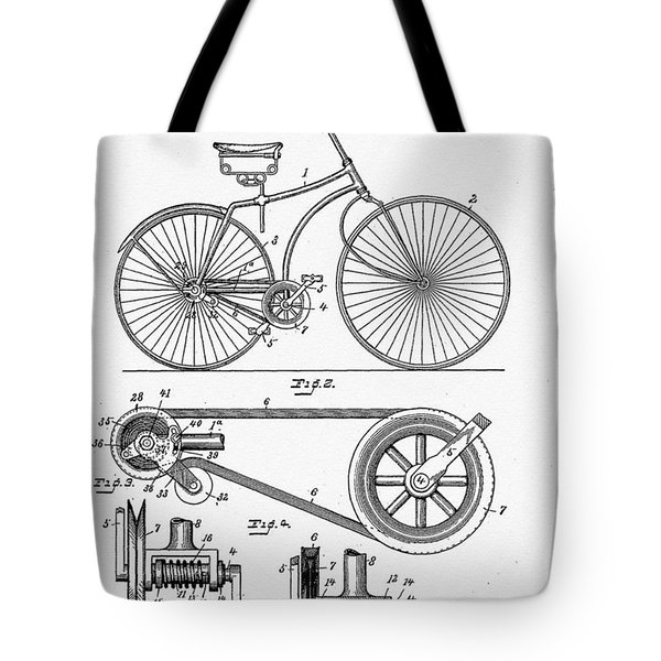 Bicycle Patent 1890 Tote Bag