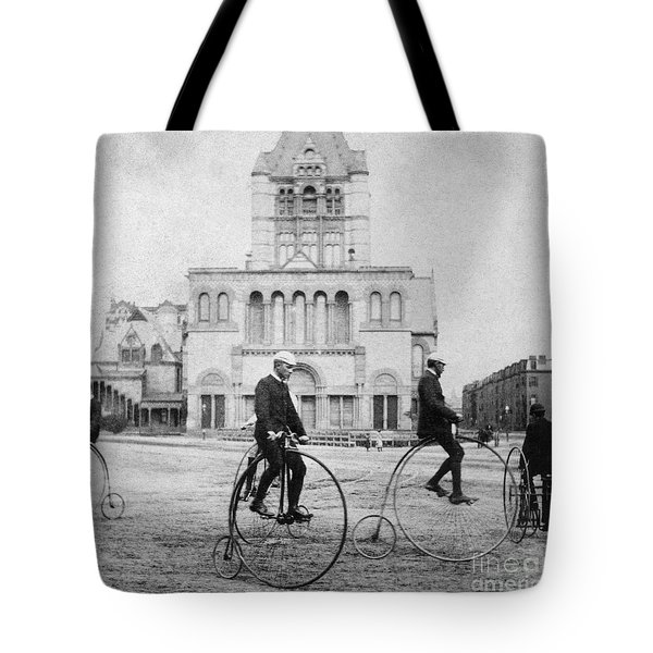Bicycling, 1880s Tote Bag by Granger