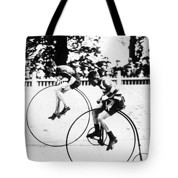 Bicycling Race, C1890 Tote Bag by Granger