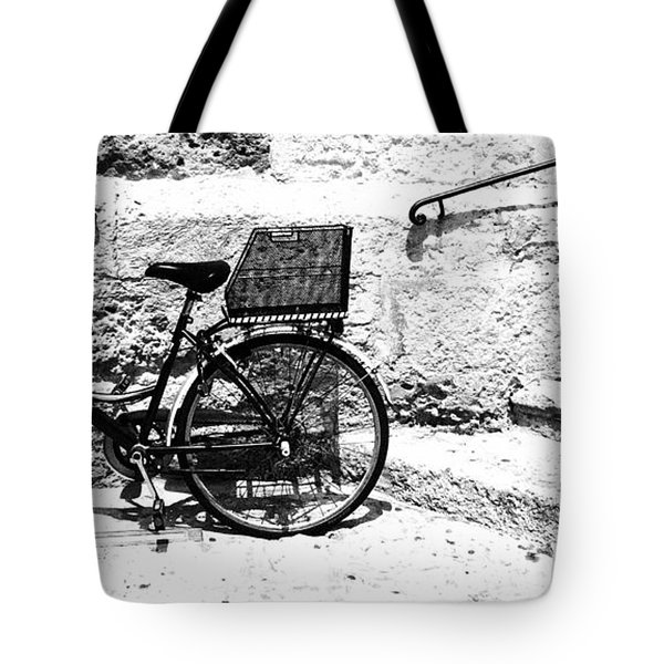 Bicyle In Cuitadella Tote Bag