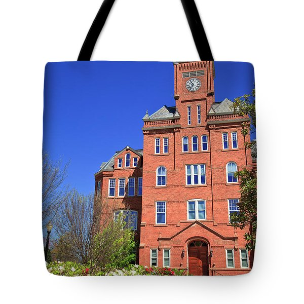 Biddle Hall In The Spring Tote Bag