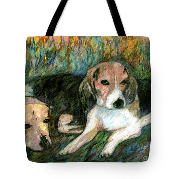 Bieber And Hank Tote Bag