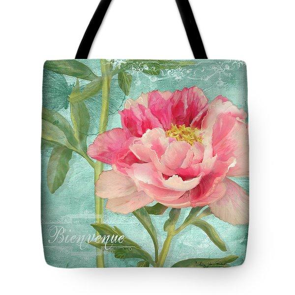 Bienvenue - Peony Garden Tote Bag