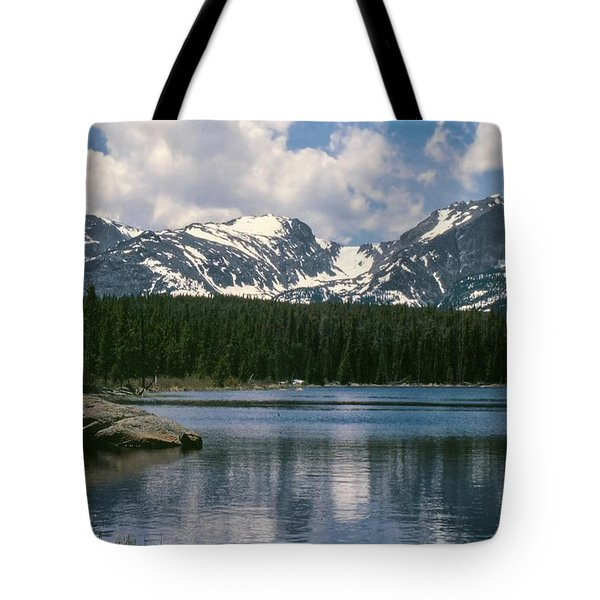 Bierstadt Lake Hallett And Otis Peaks Rocky  Mountain National Park Tote Bag