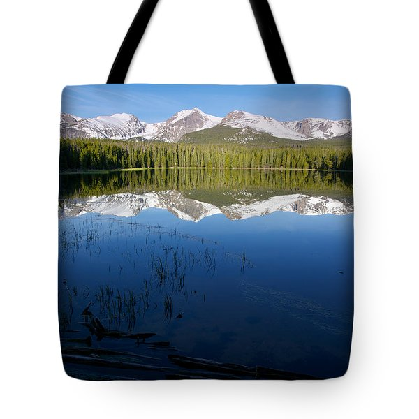 Tote Bag featuring the photograph Bierstadt Lake Reflection by Aaron Spong