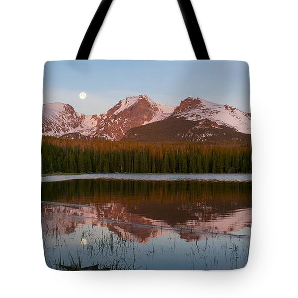 Bierstadt Lake Sunrise - Rocky Mountain National Park Tote Bag by Aaron Spong