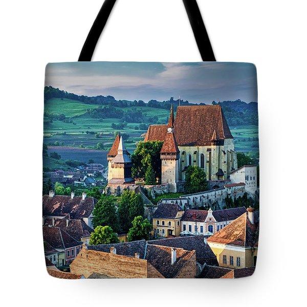 Biertan Church Dawn - Romania Tote Bag