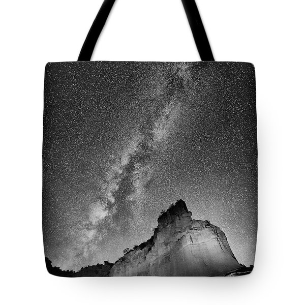 Tote Bag featuring the photograph Big And Bright In Black And White by Stephen Stookey