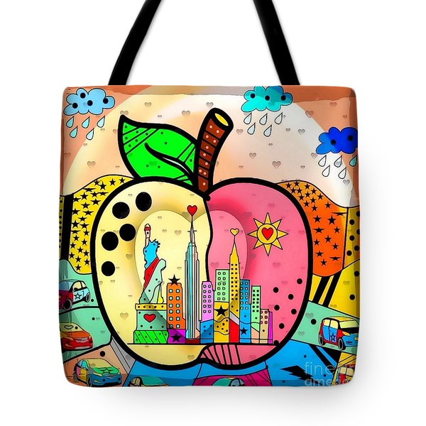 Big Apple By Nico Bielow Tote Bag by Nico Bielow