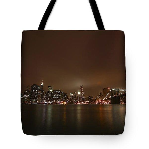 Big Apple Lights Tote Bag by Evelina Kremsdorf