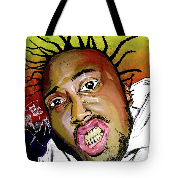 Tote Bag featuring the painting Big Baby Jesus by eVol i