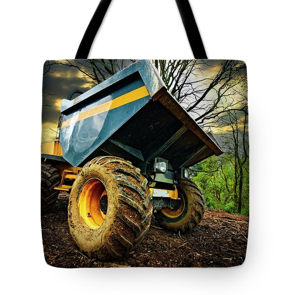 Big Bad Dumper Truck Tote Bag by Meirion Matthias