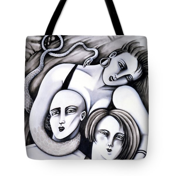 Big Bald And Boa Tote Bag