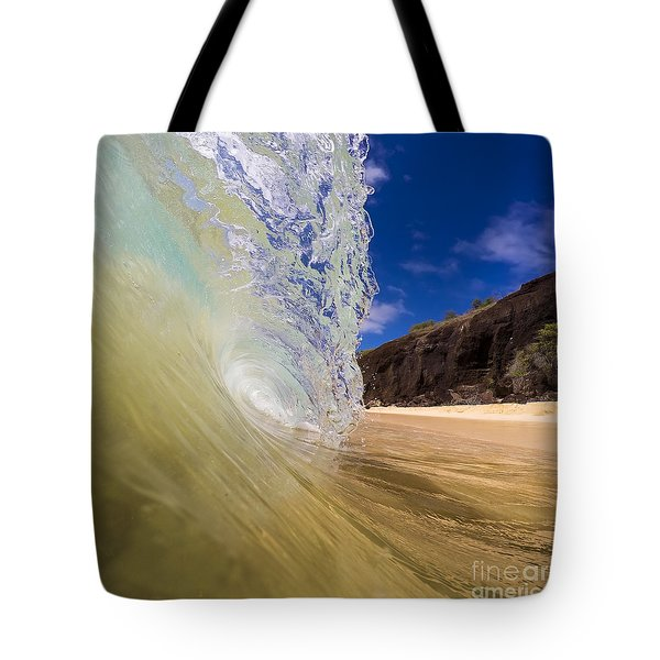 Big Beach Maui Shore Break Wave Tote Bag