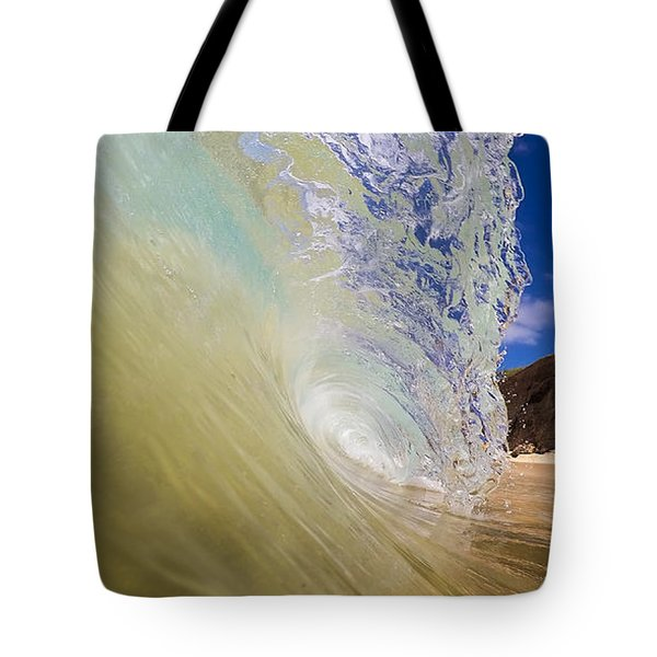 Big Beach Maui Shore Break Wave Wide  Tote Bag