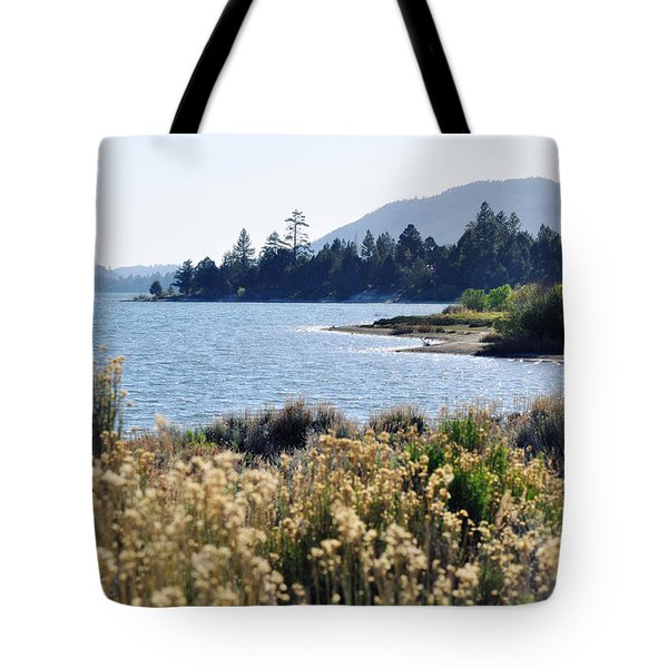 Tote Bag featuring the photograph Big Bear Lake Shoreline by Kyle Hanson