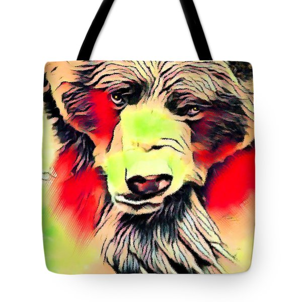 Big Bear Laying Down 1 Tote Bag