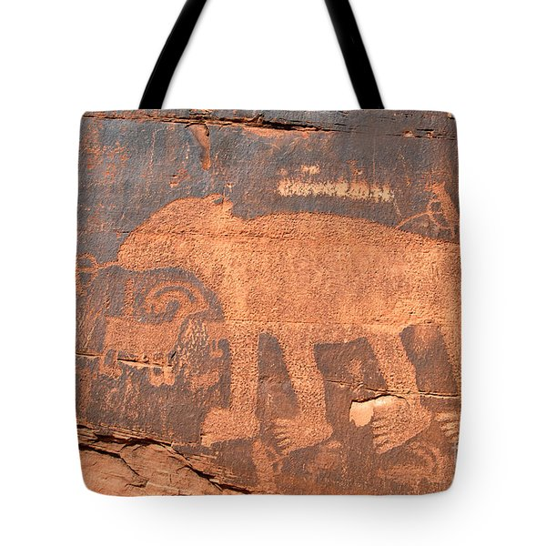 Big Bear Petroglyph Tote Bag by David Lee Thompson