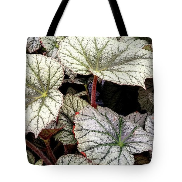 Big Begonia Leaves Tote Bag by Nareeta Martin