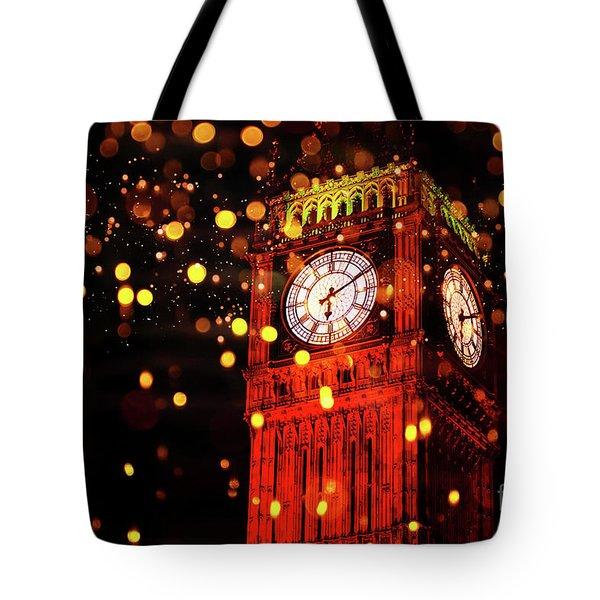 Big Ben Aglow Tote Bag