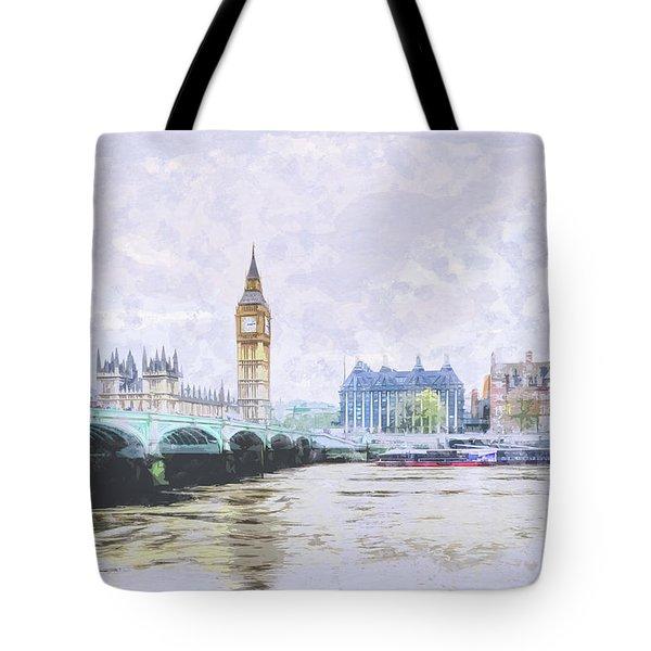 Big Ben And Westminster Bridge London England Tote Bag